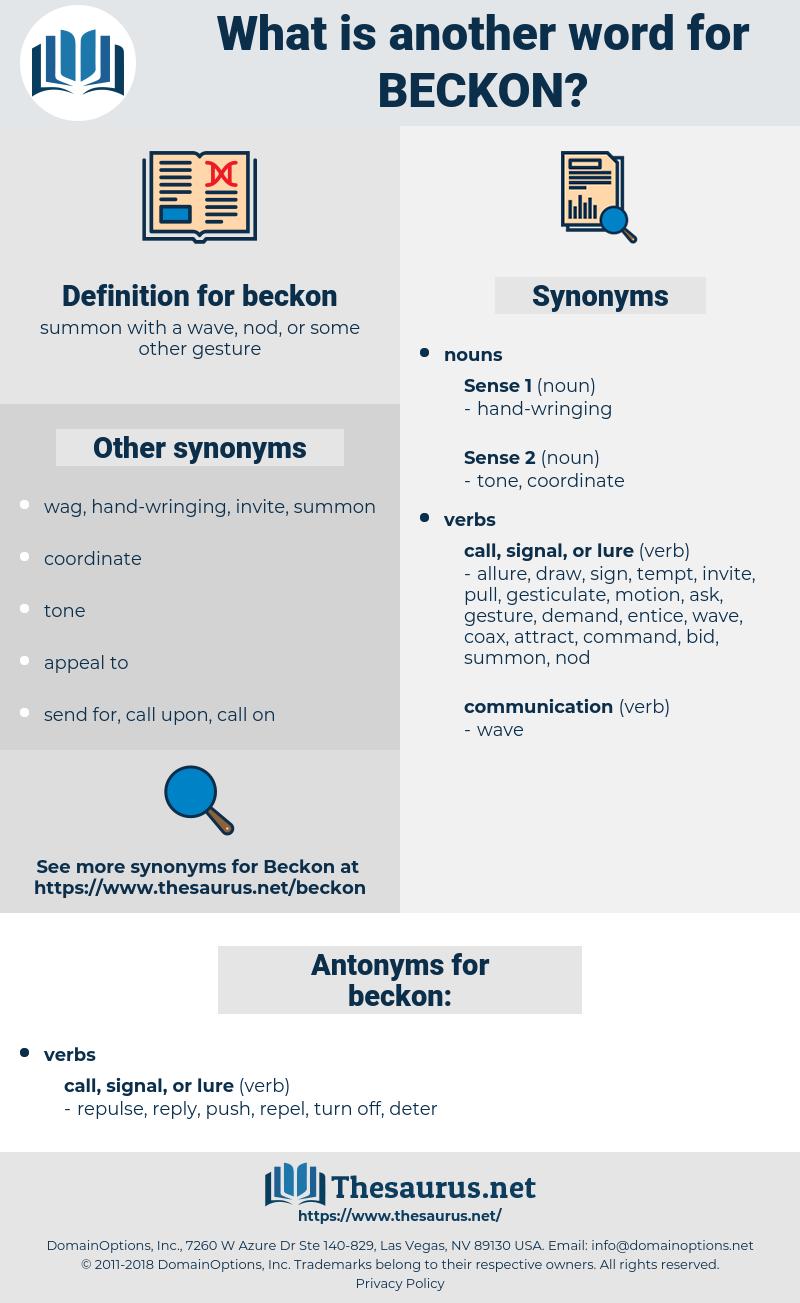 beckon, synonym beckon, another word for beckon, words like beckon, thesaurus beckon
