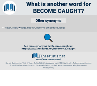 become caught, synonym become caught, another word for become caught, words like become caught, thesaurus become caught