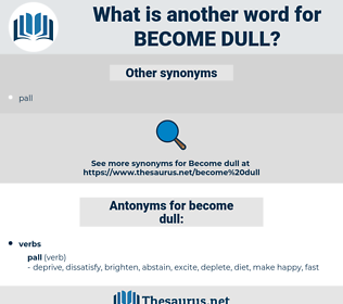 become dull, synonym become dull, another word for become dull, words like become dull, thesaurus become dull