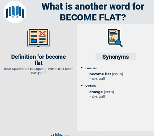 become flat, synonym become flat, another word for become flat, words like become flat, thesaurus become flat