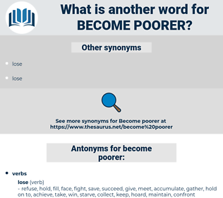 become poorer, synonym become poorer, another word for become poorer, words like become poorer, thesaurus become poorer