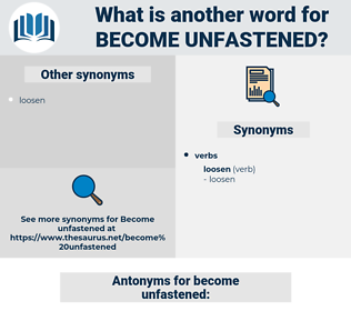 become unfastened, synonym become unfastened, another word for become unfastened, words like become unfastened, thesaurus become unfastened