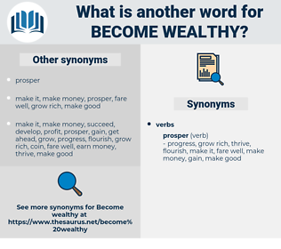 become wealthy, synonym become wealthy, another word for become wealthy, words like become wealthy, thesaurus become wealthy