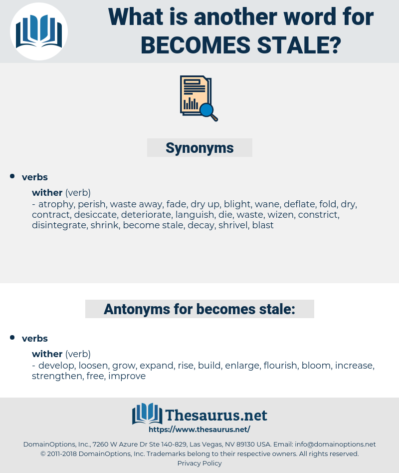 becomes stale, synonym becomes stale, another word for becomes stale, words like becomes stale, thesaurus becomes stale