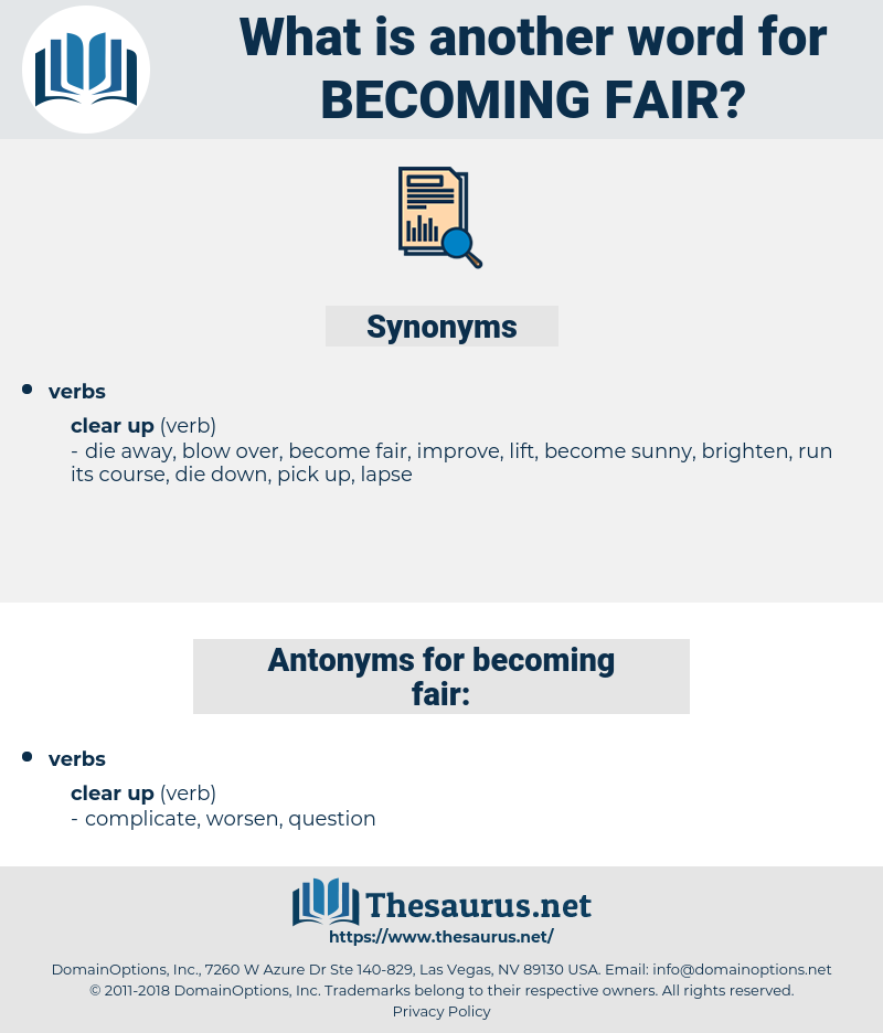 becoming fair, synonym becoming fair, another word for becoming fair, words like becoming fair, thesaurus becoming fair