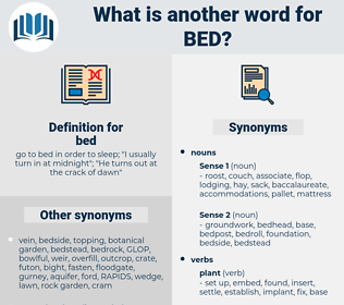 bed, synonym bed, another word for bed, words like bed, thesaurus bed