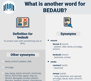 bedaub, synonym bedaub, another word for bedaub, words like bedaub, thesaurus bedaub
