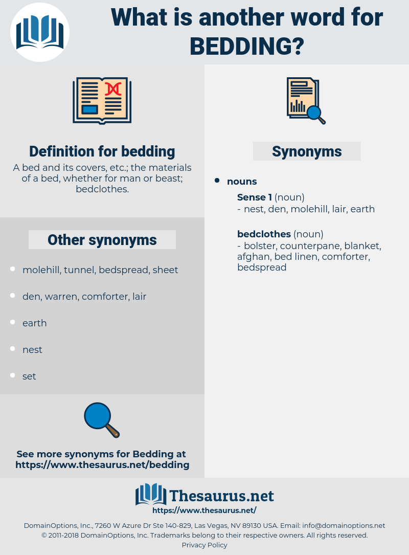 bedding, synonym bedding, another word for bedding, words like bedding, thesaurus bedding