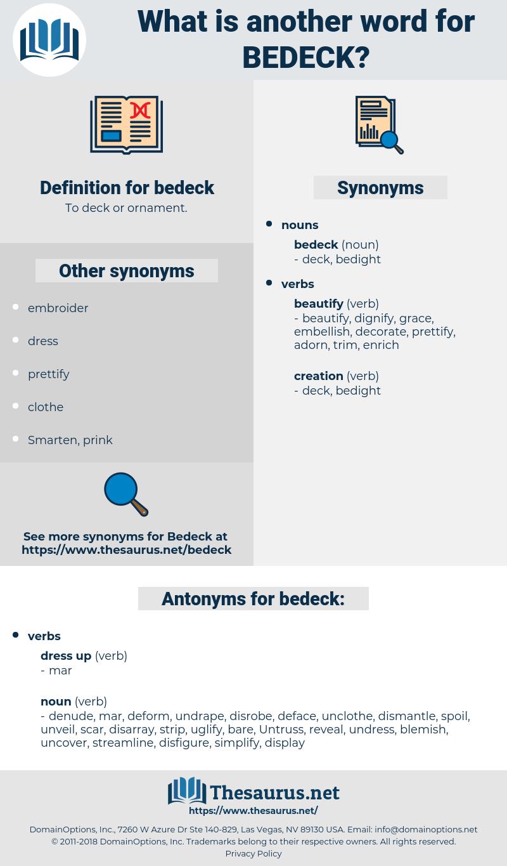 bedeck, synonym bedeck, another word for bedeck, words like bedeck, thesaurus bedeck