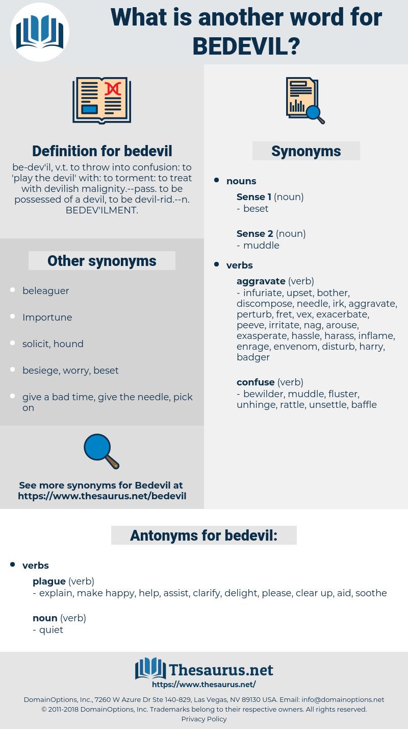 bedevil, synonym bedevil, another word for bedevil, words like bedevil, thesaurus bedevil
