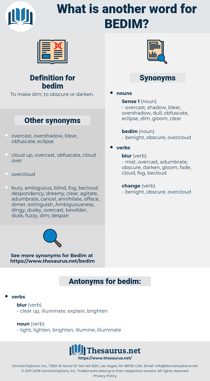 bedim, synonym bedim, another word for bedim, words like bedim, thesaurus bedim