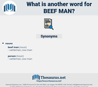 beef man, synonym beef man, another word for beef man, words like beef man, thesaurus beef man