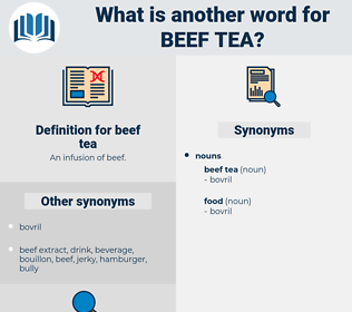 beef tea, synonym beef tea, another word for beef tea, words like beef tea, thesaurus beef tea
