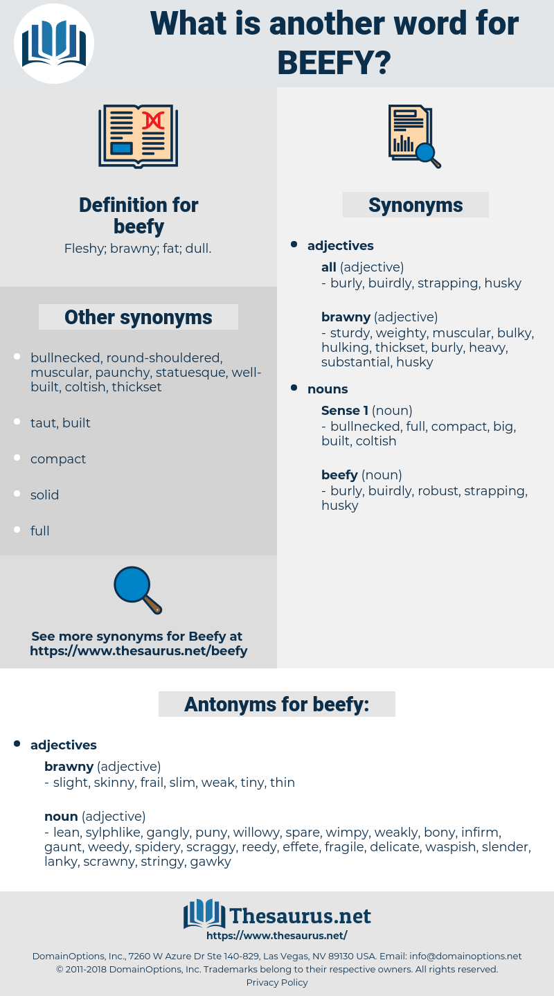 beefy, synonym beefy, another word for beefy, words like beefy, thesaurus beefy