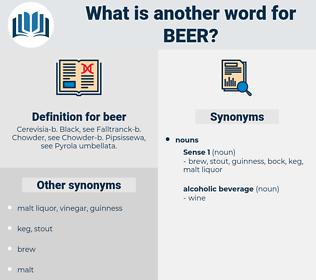 beer, synonym beer, another word for beer, words like beer, thesaurus beer