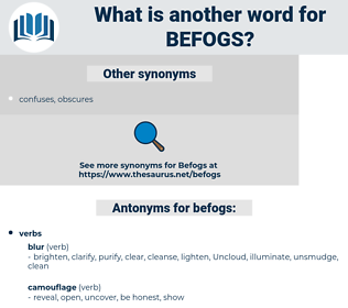 befogs, synonym befogs, another word for befogs, words like befogs, thesaurus befogs