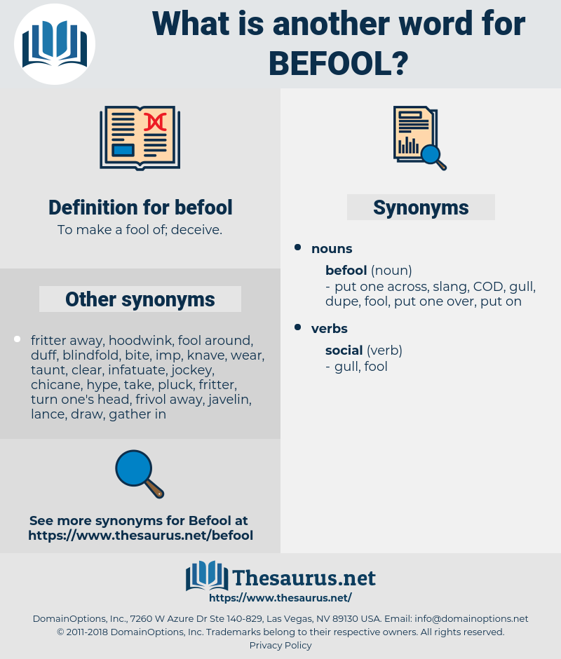 befool, synonym befool, another word for befool, words like befool, thesaurus befool