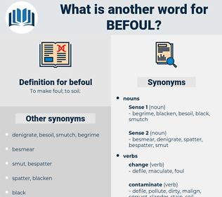 befoul, synonym befoul, another word for befoul, words like befoul, thesaurus befoul