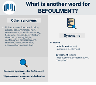 befoulment, synonym befoulment, another word for befoulment, words like befoulment, thesaurus befoulment