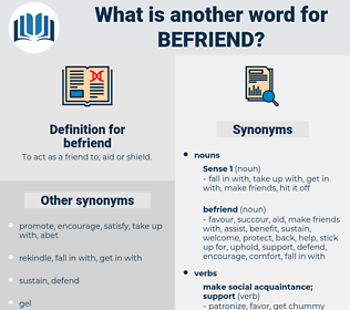 befriend, synonym befriend, another word for befriend, words like befriend, thesaurus befriend