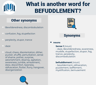 befuddlement, synonym befuddlement, another word for befuddlement, words like befuddlement, thesaurus befuddlement