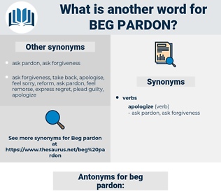 beg pardon, synonym beg pardon, another word for beg pardon, words like beg pardon, thesaurus beg pardon