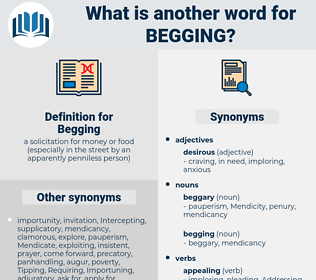 Begging, synonym Begging, another word for Begging, words like Begging, thesaurus Begging