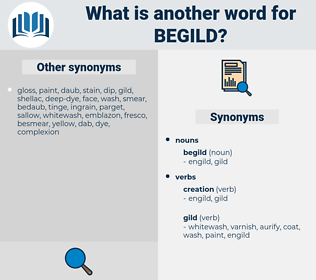 begild, synonym begild, another word for begild, words like begild, thesaurus begild