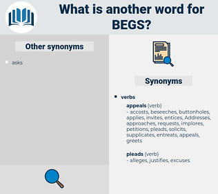 begs, synonym begs, another word for begs, words like begs, thesaurus begs