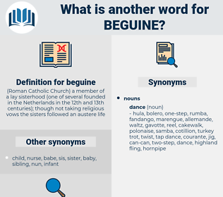 beguine, synonym beguine, another word for beguine, words like beguine, thesaurus beguine