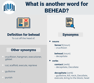 behead, synonym behead, another word for behead, words like behead, thesaurus behead