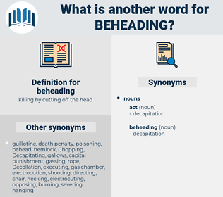 beheading, synonym beheading, another word for beheading, words like beheading, thesaurus beheading