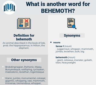 behemoth, synonym behemoth, another word for behemoth, words like behemoth, thesaurus behemoth