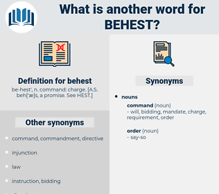 behest, synonym behest, another word for behest, words like behest, thesaurus behest