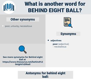 behind eight ball, synonym behind eight ball, another word for behind eight ball, words like behind eight ball, thesaurus behind eight ball