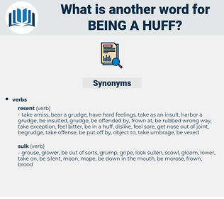 being a huff, synonym being a huff, another word for being a huff, words like being a huff, thesaurus being a huff