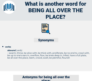 being all over the place, synonym being all over the place, another word for being all over the place, words like being all over the place, thesaurus being all over the place