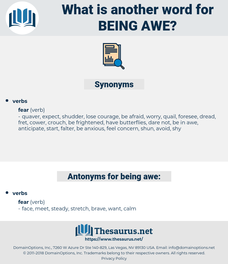 being awe, synonym being awe, another word for being awe, words like being awe, thesaurus being awe