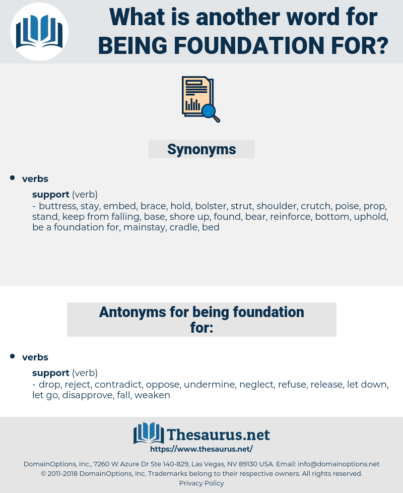 being foundation for, synonym being foundation for, another word for being foundation for, words like being foundation for, thesaurus being foundation for