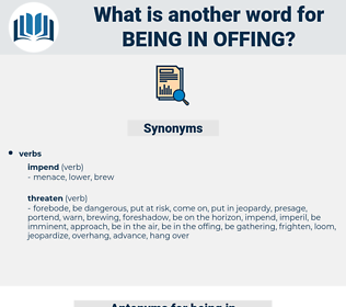 being in offing, synonym being in offing, another word for being in offing, words like being in offing, thesaurus being in offing