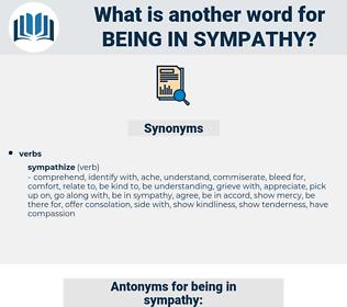 being in sympathy, synonym being in sympathy, another word for being in sympathy, words like being in sympathy, thesaurus being in sympathy