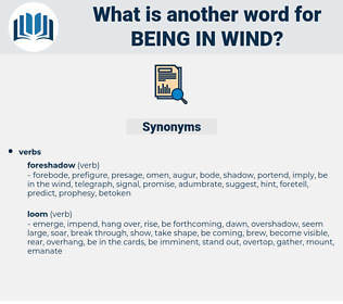being in wind, synonym being in wind, another word for being in wind, words like being in wind, thesaurus being in wind