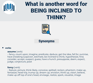 being inclined to think, synonym being inclined to think, another word for being inclined to think, words like being inclined to think, thesaurus being inclined to think