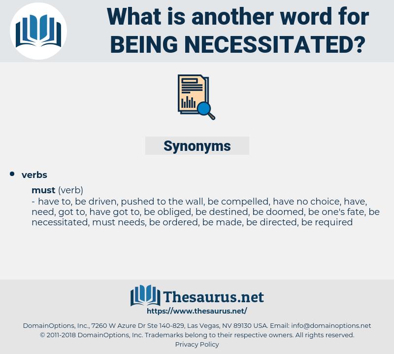 being necessitated, synonym being necessitated, another word for being necessitated, words like being necessitated, thesaurus being necessitated