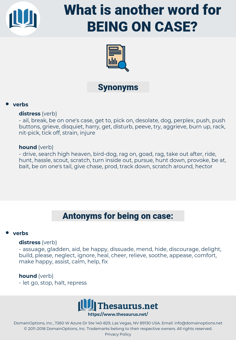 being on case, synonym being on case, another word for being on case, words like being on case, thesaurus being on case