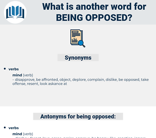 being opposed, synonym being opposed, another word for being opposed, words like being opposed, thesaurus being opposed