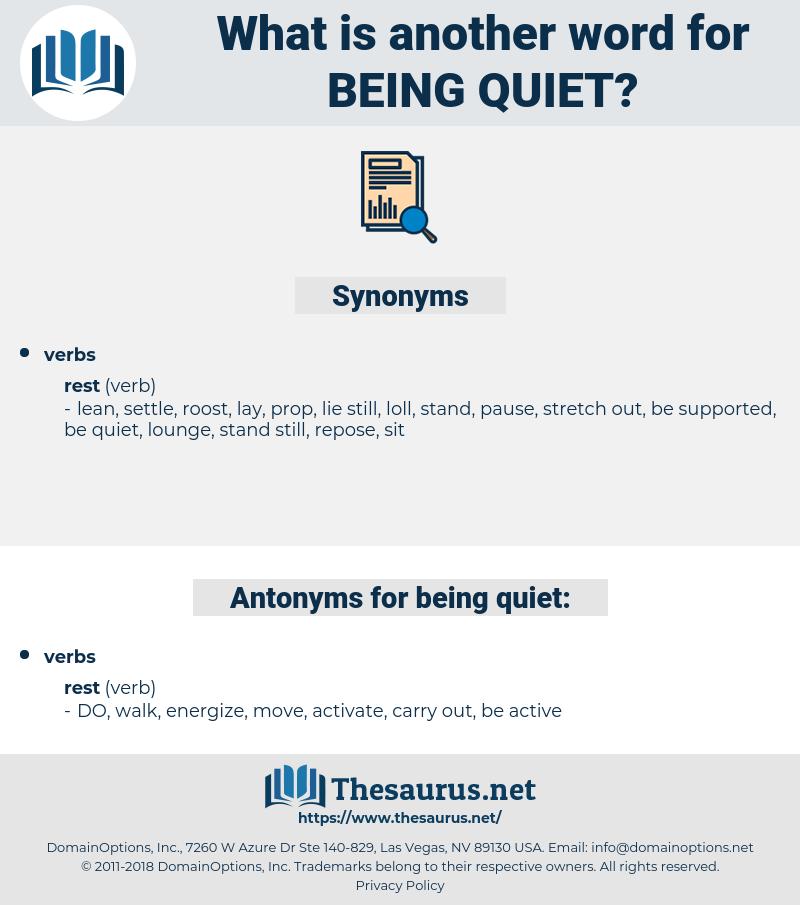 being quiet, synonym being quiet, another word for being quiet, words like being quiet, thesaurus being quiet