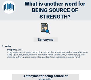 being source of strength, synonym being source of strength, another word for being source of strength, words like being source of strength, thesaurus being source of strength