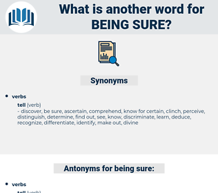 being sure, synonym being sure, another word for being sure, words like being sure, thesaurus being sure