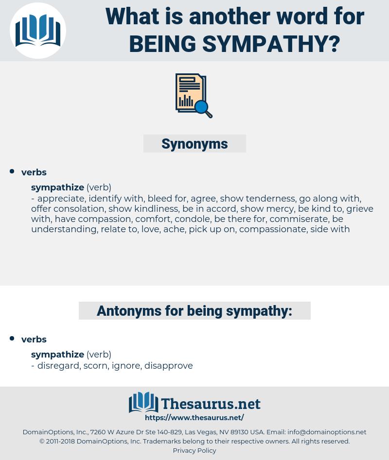 being sympathy, synonym being sympathy, another word for being sympathy, words like being sympathy, thesaurus being sympathy
